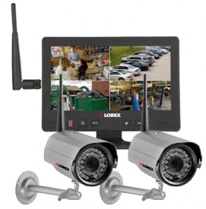 Wireless security camera and alarm system